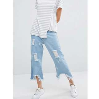 DAISY STREET RELAXED WIDE LEG JEANS