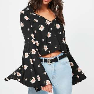 Missguided Floral Top