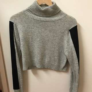 Sheike Grey Turtleneck Jumper