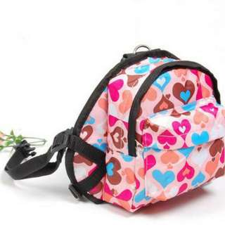[Sales]Pet Leash Harness backpack With Bag