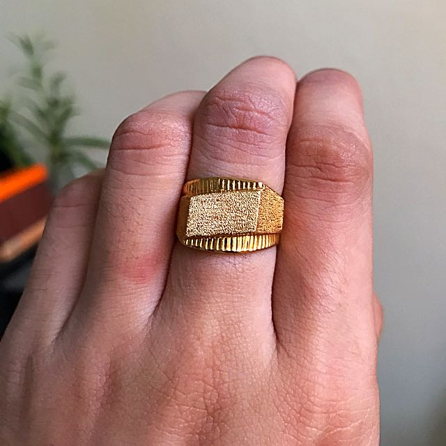 21k 7.1 Grams Saudi Gold Ring