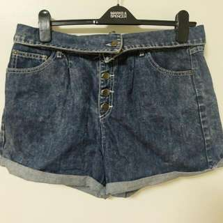 F21 Denim Highwaist Shorts