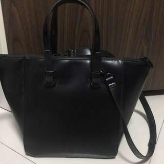 Zara Basic Black Bag