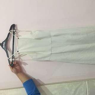 Topshop jumpsuit white size S
