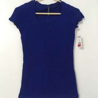 Blue Shirt With Detailing