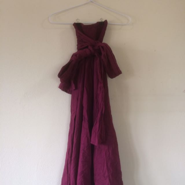 4 In 1 Maroon Dress