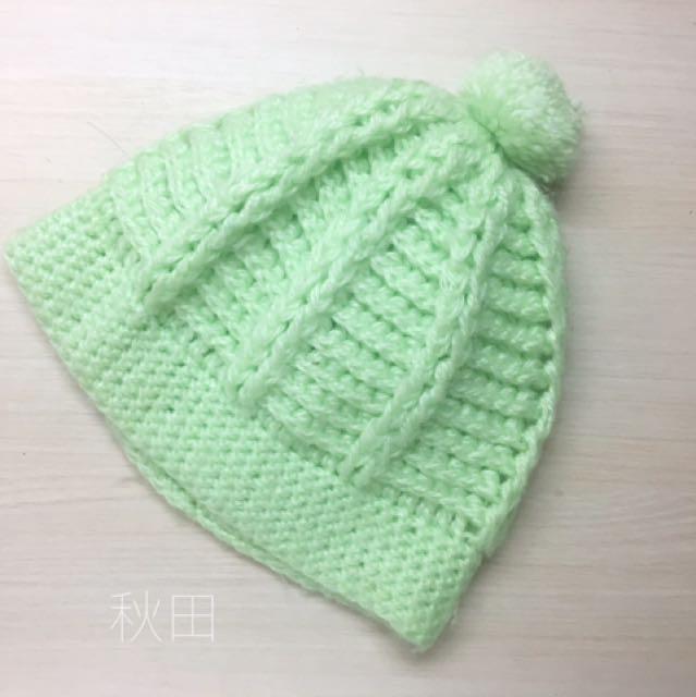 毛帽/綠色/淡螢光綠