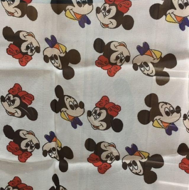 全新米奇米妮方絲巾 迪士尼