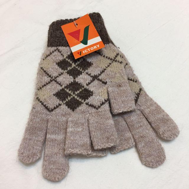 全新👉🏻 針織保暖手套 防滑 露指