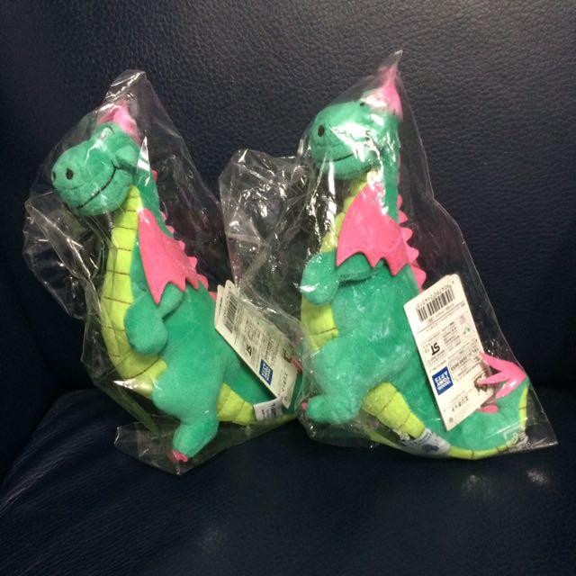 迪士尼 Beans Collection 玩偶 綠色恐龍
