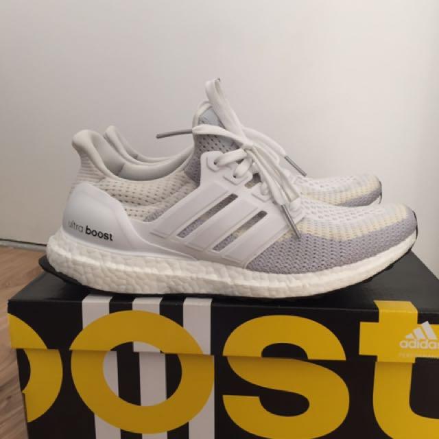 Adidas Ultra Boost 2.0 White   Grey -off a265f6d8e4