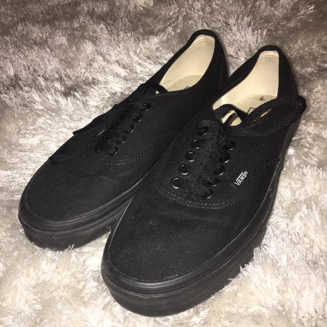 All Black Vans