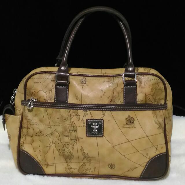 Alviero Martini Inspired Map Bag