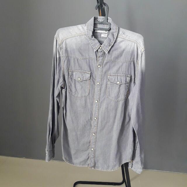 Ash Grey Denim Shirt