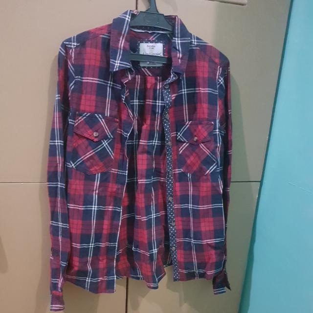 100 only!! Authentic BERSHKA checkered Top