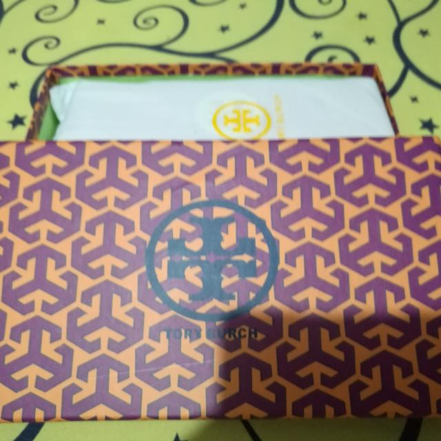 Repriced: Authentic Golden Orange Tory Burch Wallet