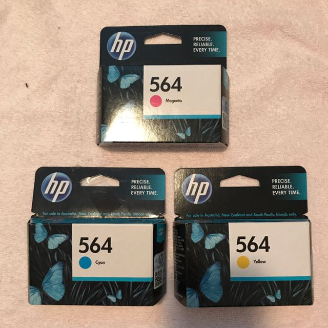 Authentic HP Printer 564 Coloured Ink, $25 Each