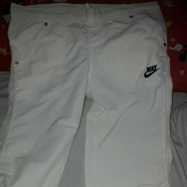 authentic white jogging pants