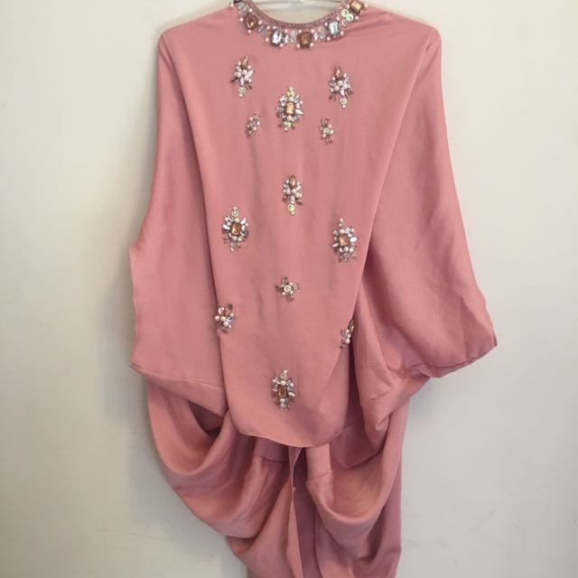 AVA Collection Pastel Pink Top With Maha Beads