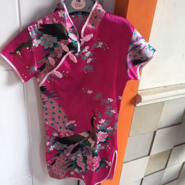 baju cheongsam girl