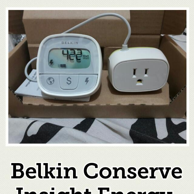 Belkin Conserve Insight Energy Use Monitor 110 Volts only ang keribells