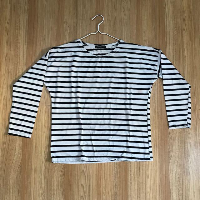 Black & White Stripes Top