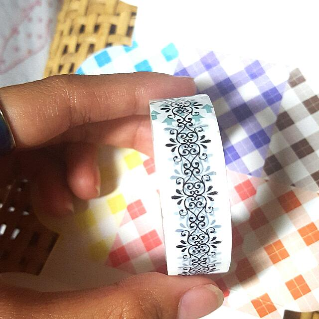 Black and White Designed Washi Tape