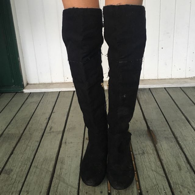 Black Over The Knee / Thigh High Boots