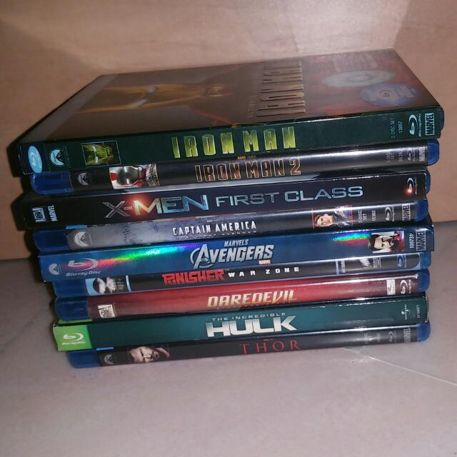 BLU RAY Marvel Movies Collection, Music & Media, CDs, DVDs