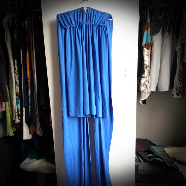 Blue Convertible Dress Knee-length