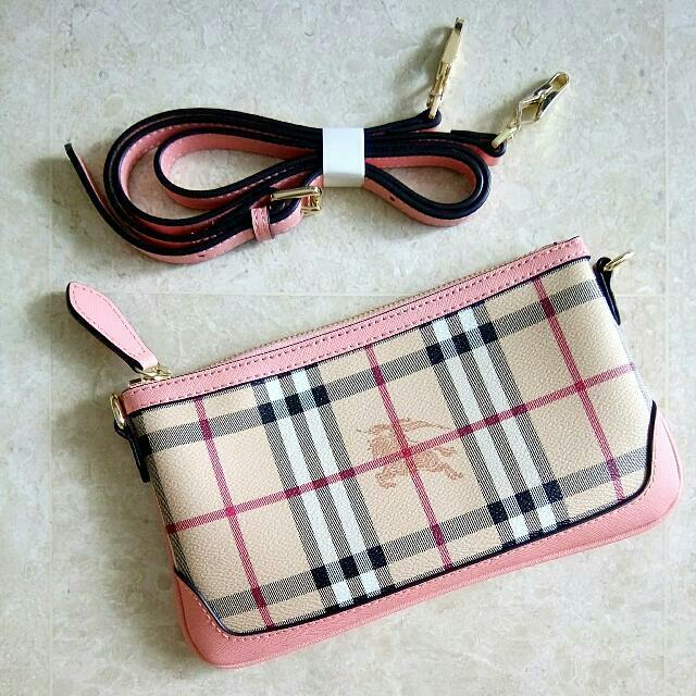 ad76d3408b07 Brand New Burberry Peyton Haymarket Check Crossbody Bag Sling Bag ...