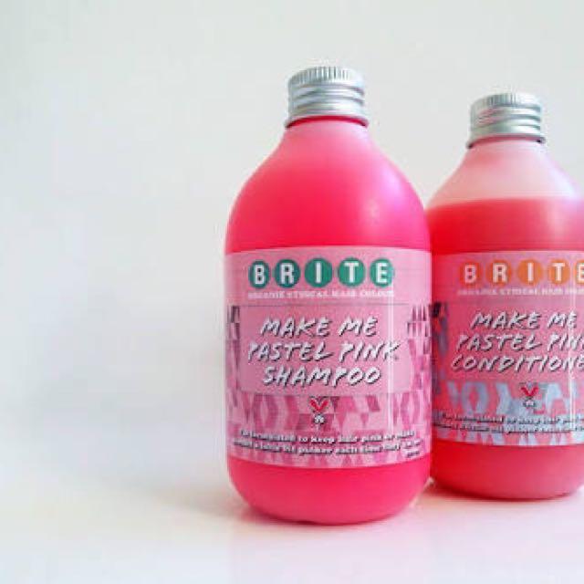 Brite Pink Shampoo And Conditioner 300ml Each