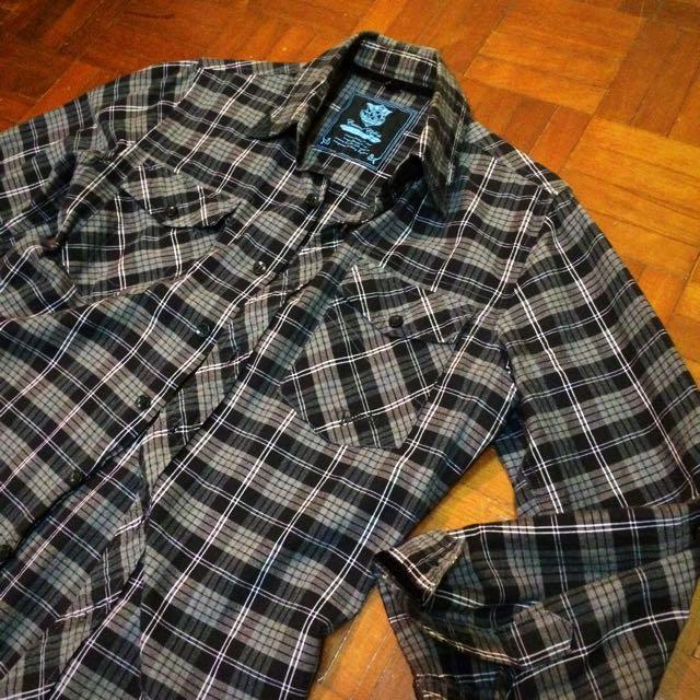 Checkered Shirts Black S