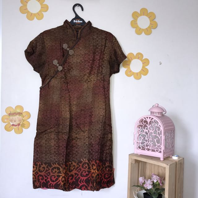 Cheongsam Batik Dobi Dress