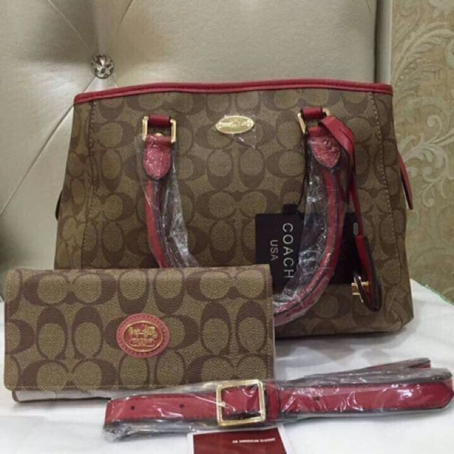 Coach Bag(Leatherware) with Wallet