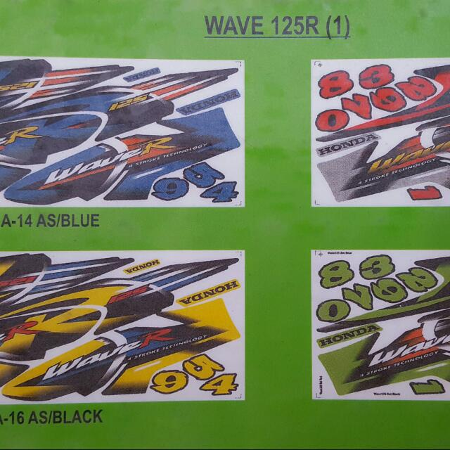 Coverset sticker for honda wave 125 r yamaha spark jupiter sniper motorbikes motorbike accessories on carousell