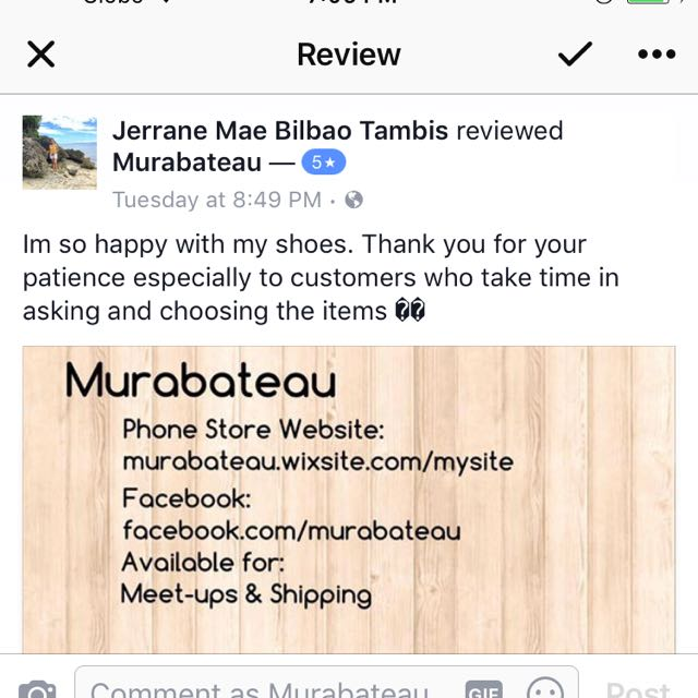 Customer Feedbacks! Thank You For Trusting Murabateau!