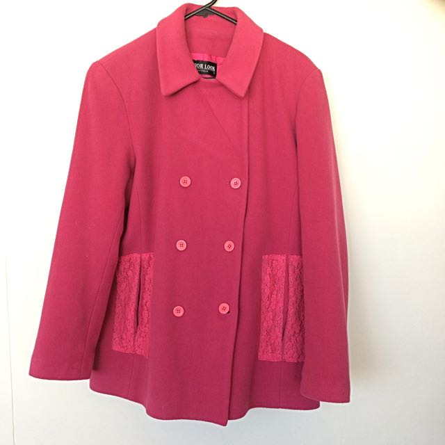 Cute, warm, and comfy pink winter coat
