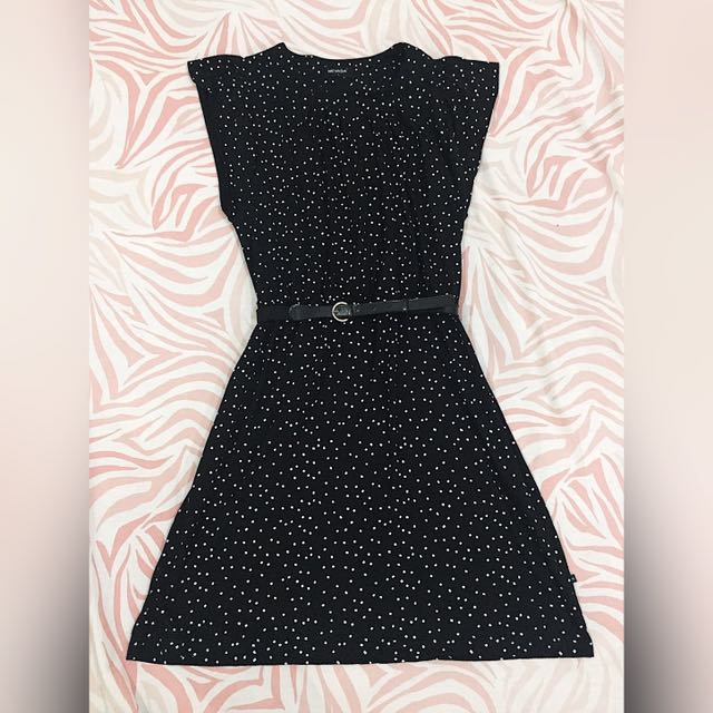 Dress Hitam Polkadot NEVADA