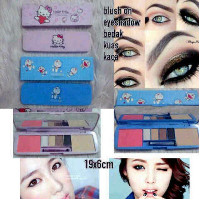 Eyeshadow komplit bedak blushOn