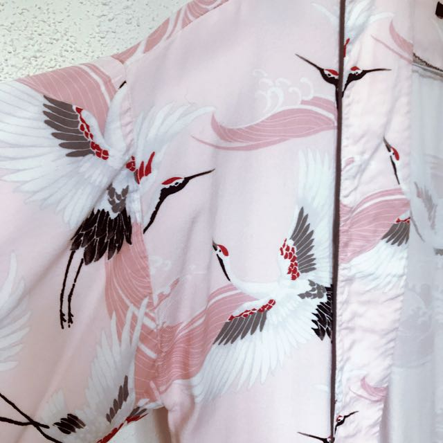 F21 Crane Kimono