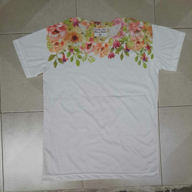 Flowery White Shirt