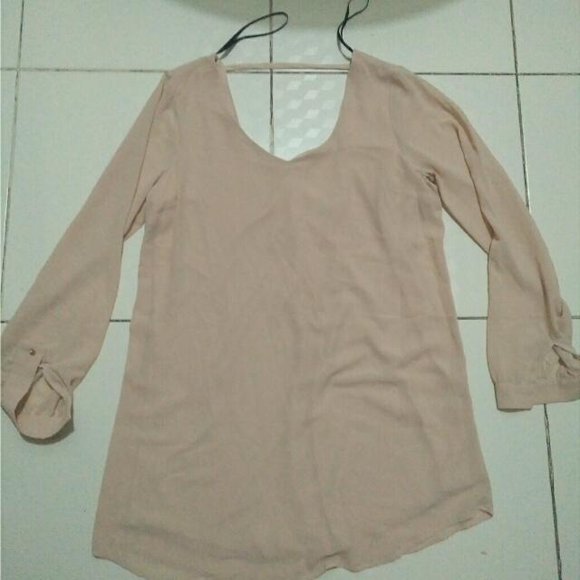 forever 21 blouse(beige)
