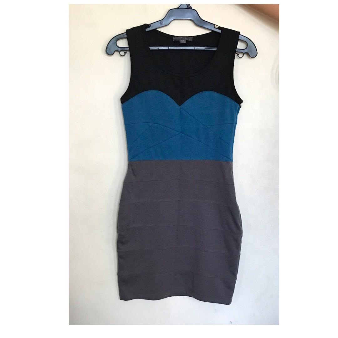 Forever 21 Bondage Dress in cotton, w/ side zipper