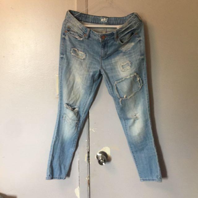 Garage Ripped Boyfriend Jeans