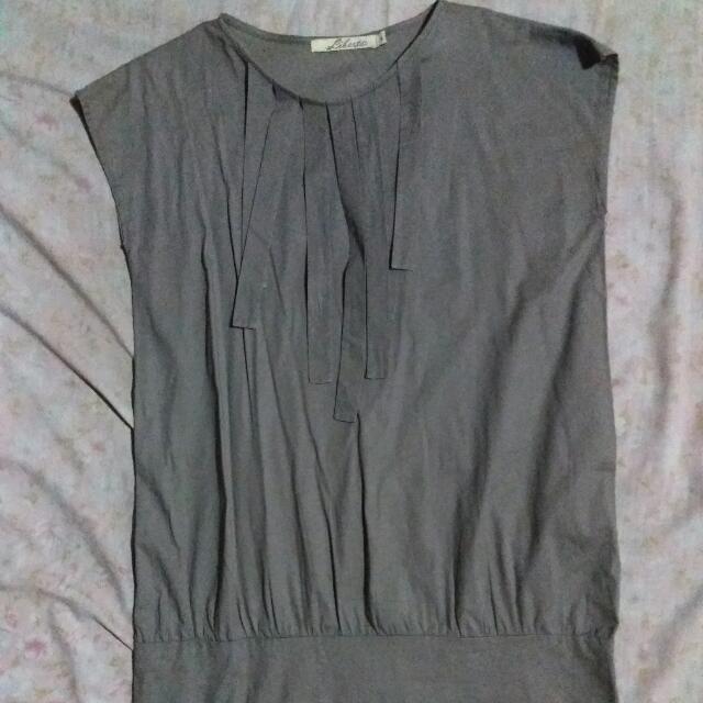 Gray Office Dress