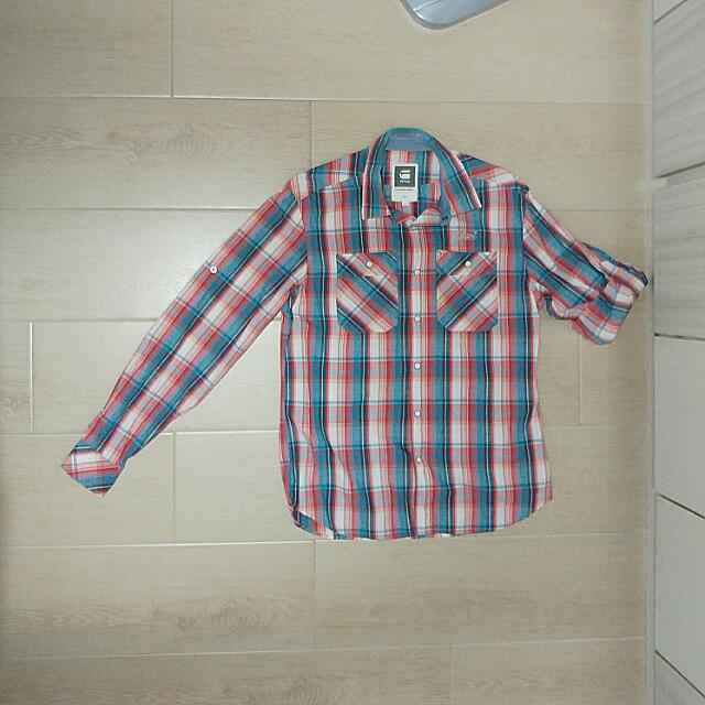 G-Star League Cortina Roll-Up Shirt