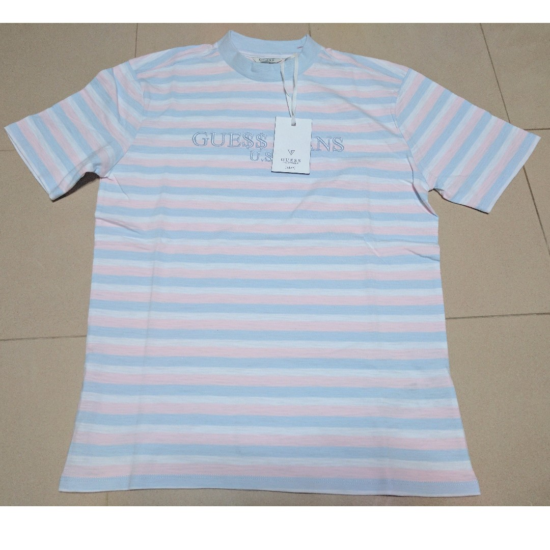 933597776a6 Guess X Asap Rocky Striped Cotton Candy T Shirt Men S Fashion