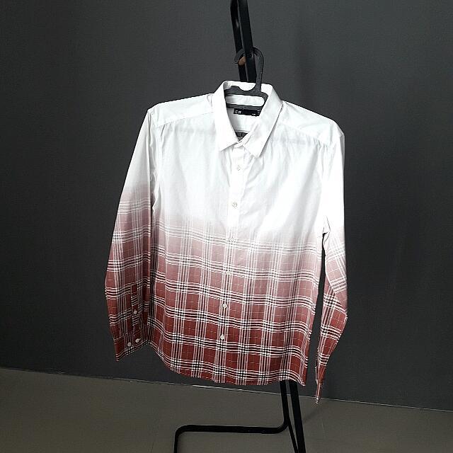 Half-checkered Slim Shirt