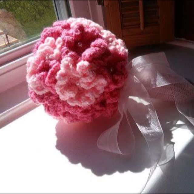 Handmade Crochet Wedding Handbouquet Design Craft Handmade Craft